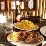 свинина и рис