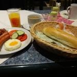 朝食のメニューは豊富です。