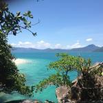 Blue sky, emerald sea