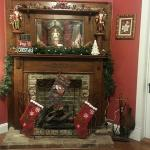 Fireplace in front parlor