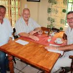 L/R Owner Daniel Leusch, Paul Roux (Taken853), Johan van Wyk