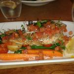 Seabass with potatoes and vegetables