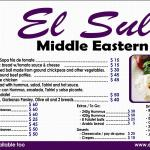 El Sultan's new menu for those that are curious...