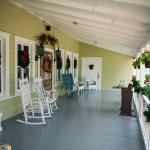 The Tilted Teacup Tea Room and Boutique. Front porch.