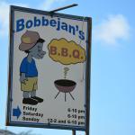 Signage at Bobbejan's Bar B Q