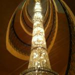 Chandelier in staircase