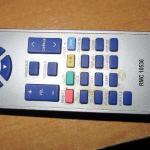 Grim encrusted remote