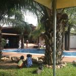 Bar and swimming pool.
