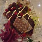 Entrada: carne de rena Delicioso!