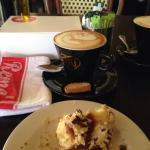 Cronut and cappuccino
