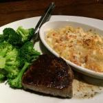 Sirloin dinner with lobster and shrimp mac & cheese