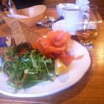 Delicious and beautiful presentation. Torridon smoked salmon.mmmm