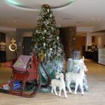 Kerstsfeer in de hal