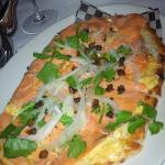 smoked salmon flatbread (seared extra)