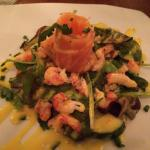 Salmon & crayfish salad starter