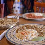 Butter Chicken, Garlic Naan, and Chicken Tiki Masala. All super good dishes!!!