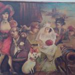 It is like an art gallery!   Amazing original art on the wall