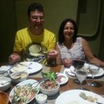 Jantar de aniversário no Al Nur