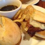rost beef, au jus sandwich - yum