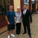 With Mum & Antonio the sub director