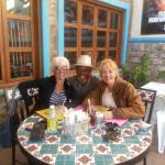 Having lunch with co-owner, D'Andre at the Sweet Spot