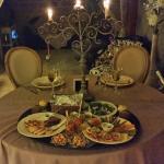Le plateau  repas servi en chambre.