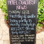 Time to hunker down for winter at the Sea Crest Hotel