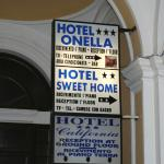 Hotel notice at the outside