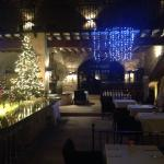 Restaurant ambience at Christmas.
