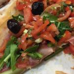 Bruschetta pizza with pancetta
