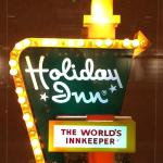 Miniature Vintage Holiday Inn Sign on 2nd floor Lobby even lights up!