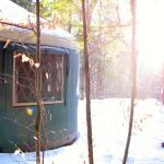 Mt. Brook Yurt tucked in the Maine woods