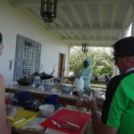 Our chef demonstrating Jamaican cooking