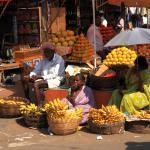 typische Szene am Markt