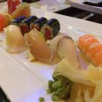 Sushi and sashimi lunch