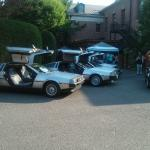 Weird DeLorean Party on the Grounds