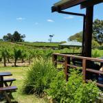The verandah at Cullen Wines...lovely!