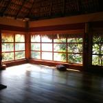 yoga studio overlooking the lake