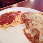 Chicken parm lunch special. $8.95