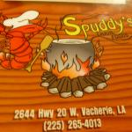 Front of Menu at Spuddy's
