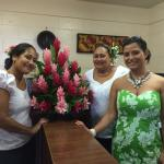 Miss Nauru with Patricia and Saga