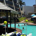 Margate sands poolside