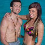Cassie and Eddie enjoy the pool