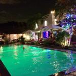 Breeze pool by night