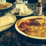 Huevos Rancheros and Burrito.