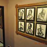 Lovely framed art work in the corridor