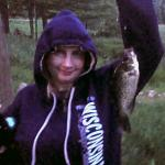 Host Cari showing us how to catch crappie in motel pond.