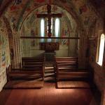 Maquette d'une église typique du moyen âge.