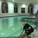 Big indoor pool. Clean