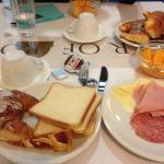 Plenty of choice at breakfast.